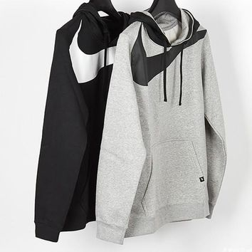nike fashion casual print long sleeve pullover hoodie