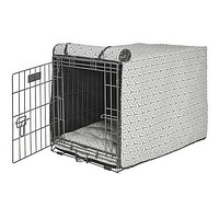 Micro Jacquard Luxury Dog Crate Cover — Milky Way