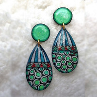 WOMEN EARRING POLKA DOT & STRIPE