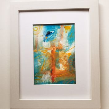 020 Original Abstract  Art on Paper. Free-shipping within USA.