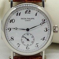Patek Philippe ref3960P Calatrava Officers Watch Platinum 150th 1 of 50 Made