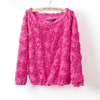 Women's Pullovers Cotton Polyester sweater