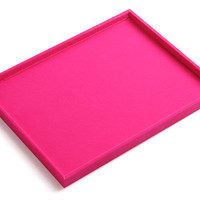 Hot Pink Velvet Jewelry Tray