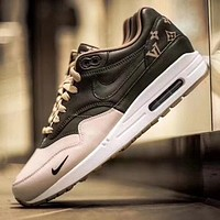 Louis Vuitton x Nike Air Max 1 Custom Running Sneakers Sport Shoes