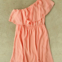 Sweet Ruffled Apricot Dress [4145] - $25.60 : Vintage Inspired Clothing & Affordable Dresses, deloom | Modern. Vintage. Crafted.