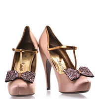 Glitter-bow satin high heeled pumps | Lanvin | MATCHESFASHION.COM