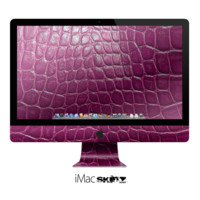 The Bright Magenta Aligator Skin  Apple iMac Desktop Computer Skin