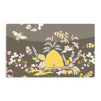 """Very Sarie """"Hope for the Flowers II"""" Yellow Brown Aluminum Artistic Magnet"""