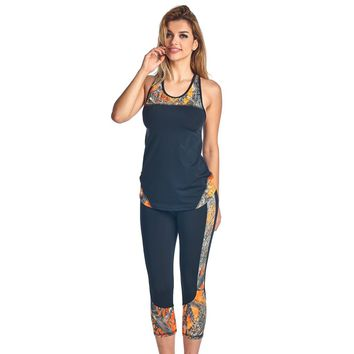 Women's 2 Piece Camo Athletic Wear Tank & Capris True Timber Made in USA