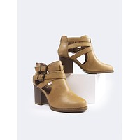Western Cut Out Ankle Boot Bootie