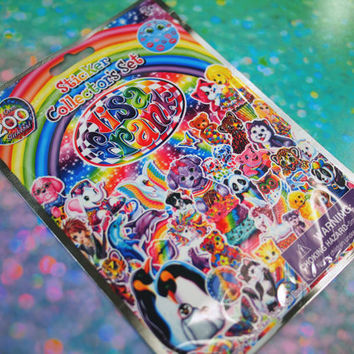 Lisa Frank Puppy Sticker Collectors Set / Lisa Frank Stickers Over 200 Stickers / 90s Lisa Frank Sticker Sheets and Sticker Collector Book