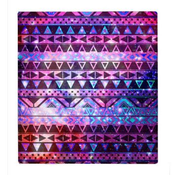 Girly Andes Aztec Pattern Pink Teal Nebula Galaxy 3 Ring Binders from Zazzle.com