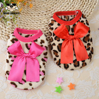 XXXS XXS XS S Spring Fashion Cute Teacup Dog Clothes Puppy Vest Coral Soft Leopard Baby Pet Dogs Clothing Chihuahua Apparel
