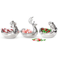 Nambe Christmas Tidbit Bowls Collection