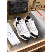 prada men fashion boots fashionable casual leather breathable sneakers running shoes 128