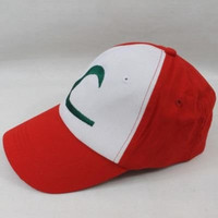 New Visor Cap POKEMON ASH KETCHUM COSTUME Cosplay Hat