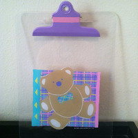 Vintage Just for Fun Bear Clip Board