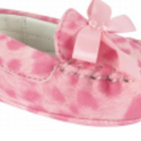 Baby Pink Leopard Moccasin