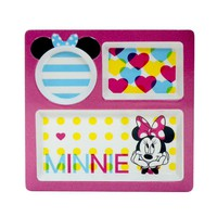 Disney Minnie Mouse Kid's 9.5-in. Melamine Divided Plate by Jumping Beans (Pink)