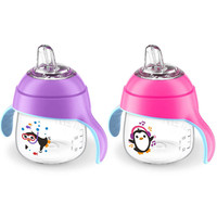 Avent 2 Pack 7 Ounce My Little Sippy Cup - Pink/Purple