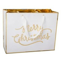 "Sugar Paper® White ""Merry Christmas"" Gift Bag - Large"