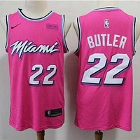 Miami Heat 22 Jimmy Butler Pink Basketball Jersey DCCK