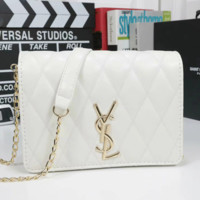 YSL Yves Saint Laurent Women Leather Shoulder Bag Crossbody Satchel