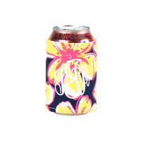 Beach Floral Personalized Coozie Wrap