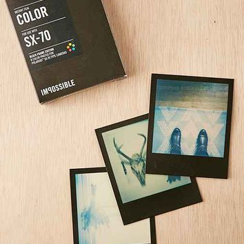 Impossible Black Frame Color Polaroid 600 Instant Film