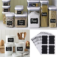 Chalk Pen Chalkboard Sticker Labels Vinyl Kitchen Jar Wall Cup Bottle Planner Mirror Decor Decals Tags 5CM X 3.5CM Size 8 Pcs