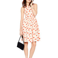 Kate Spade Flamingo Fit And Flare Dress Shell Pink