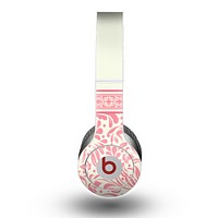 The Pink & Tan Polka Dot Pattern V1 Skin for the Beats by Dre Original Solo-Solo HD Headphones