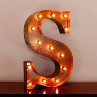 "24"" Letter S Lighted Vintage Marquee Letters with Screw-on Sockets"