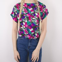 Vintage Colorful Abstract Blouse