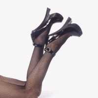 Womens 8 Inch Heels Fetish Pumps Black Patent Mary Jane Shoes Sexy High Heels Size: 5