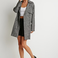 Abstract Print Trench Coat
