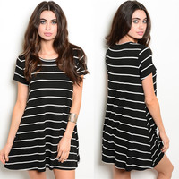 Anna Striped Tshirt Dress