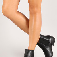 Bamboo Charm-02 Leatherette Flat Chelsea Ankle Boot
