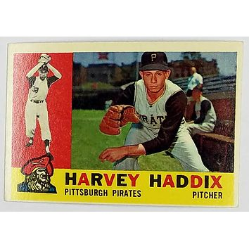 1960 Topps #340 Harvey Haddix, Pirates Pitcher 12 Perfect Innings, NM+