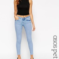 ASOS PETITE Whitby Low Rise Skinny Ankle Grazer Jeans In Parker Wash