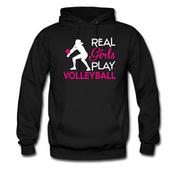 Real girls play volleyball hoodie sweatshirt tshirt