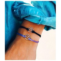 Silver Wave Charm Purple