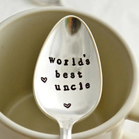 world's best uncle, teaspoon-silver plated- gift for uncle.