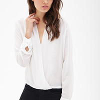 LOVE 21 Boxy V-Neck Surplice Top