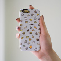 Neko Atsume Cat Funny Case Cute Case Cover Cat lover Gift Case for iPhone 6 iPhone 6S iPhone 6 Plus iPhone 5 5S 5C Galaxy S5 S6 Edge Note 5
