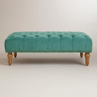 Beryl Green Marcelle Tufted Ottoman