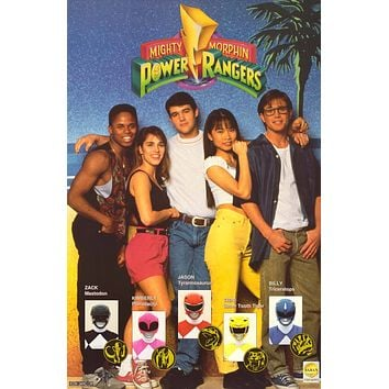 """Poster: Mighty Morphin Power Rangers 1993 Cast (21""""x32"""")"""