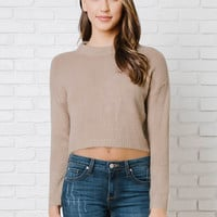 Daphne Cropped Knit Sweater-FINAL SALE