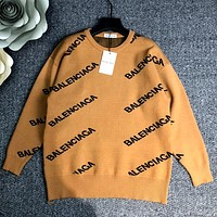 Balenciaga autumn and winter new knitted jacquard letter sweater