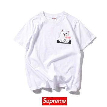 Cheap Women's and men's supreme t shirt for sale 85902898_0009